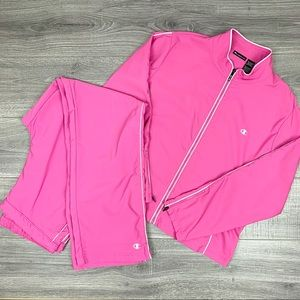 Champion Vintage 90's Pink Track Suit Jacket Pants